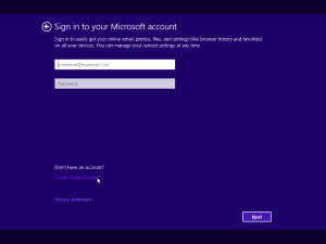 MS Windows 10 - No Account 1