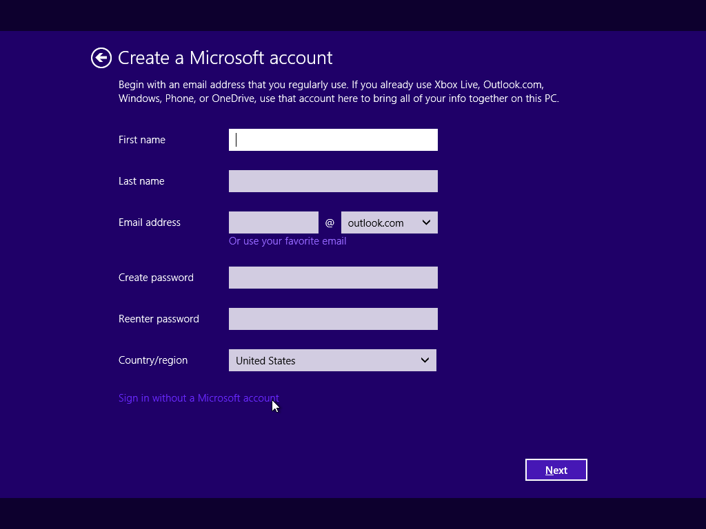 How to create a Microsoft account 59