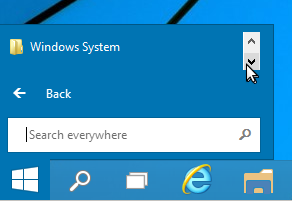 Windows 10 Start Menu - Closeup