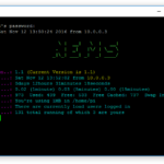 NEMS 1.1 Terminal Window